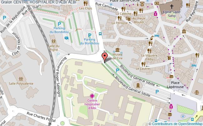 plan Centre Hospitalier D'albi ALBI