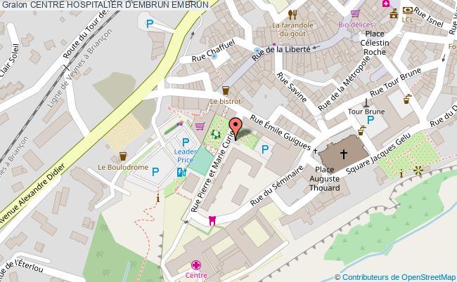 plan Centre Hospitalier D'embrun EMBRUN