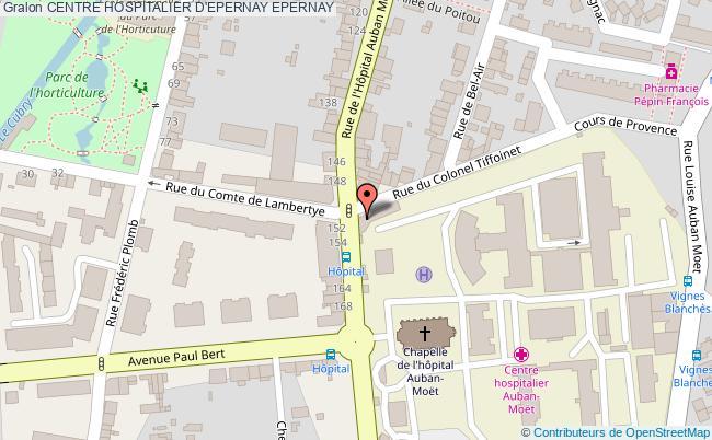 plan Centre Hospitalier D'epernay EPERNAY