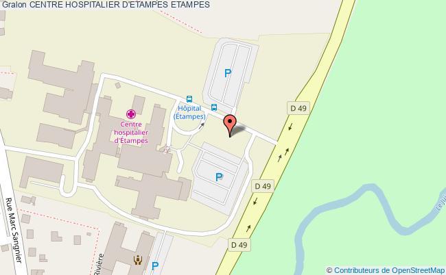 plan Centre Hospitalier D'etampes ETAMPES