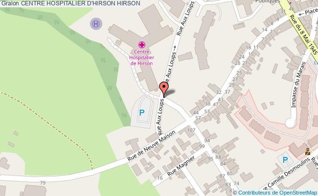 plan Centre Hospitalier D'hirson HIRSON