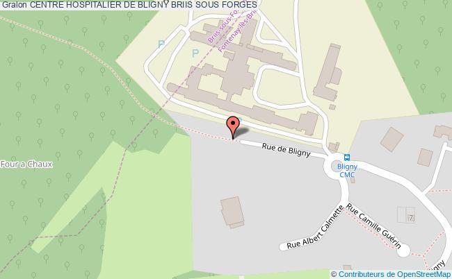 plan Centre Hospitalier De Bligny BRIIS SOUS FORGES