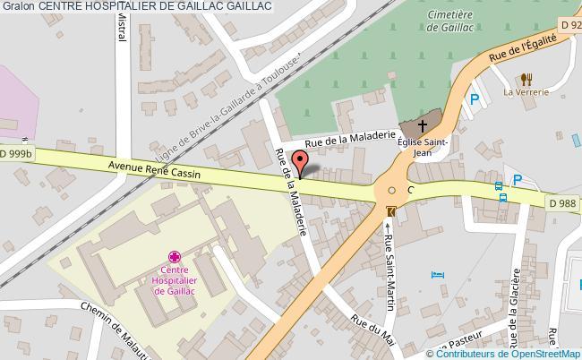 plan Centre Hospitalier De Gaillac GAILLAC