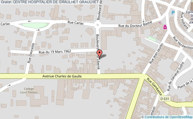 plan Centre Hospitalier De Graulhet GRAULHET