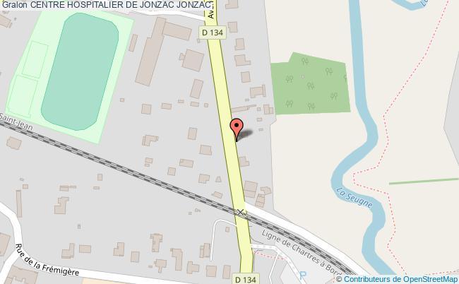 plan Centre Hospitalier De Jonzac JONZAC