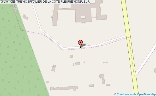 plan Centre Hospitalier De La Cote Fleurie HONFLEUR