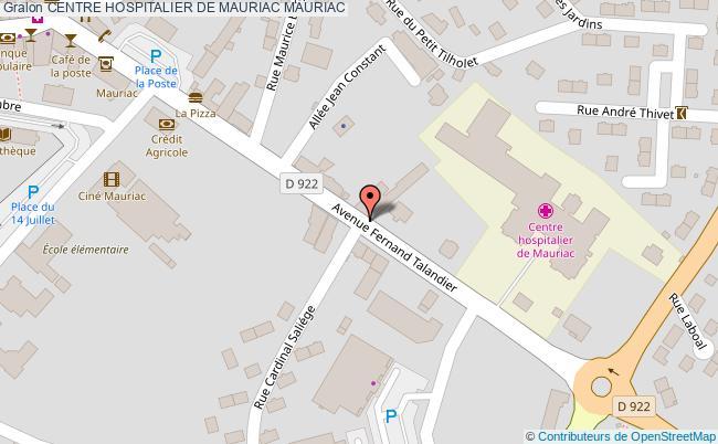 plan Centre Hospitalier De Mauriac MAURIAC