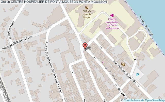 plan Centre Hospitalier De Pont A Mousson PONT A MOUSSON