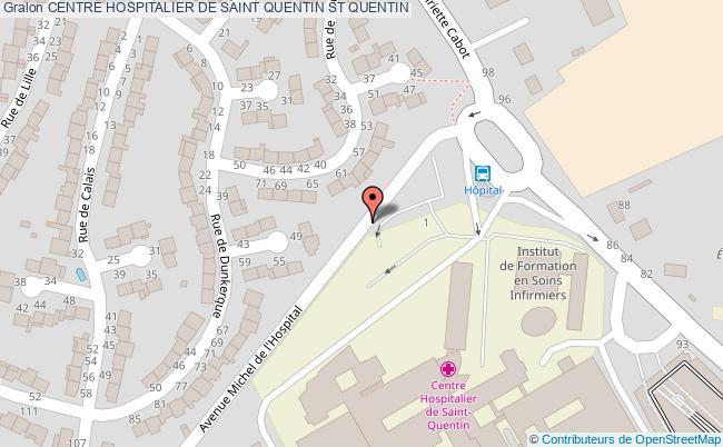 plan Centre Hospitalier De Saint Quentin ST QUENTIN
