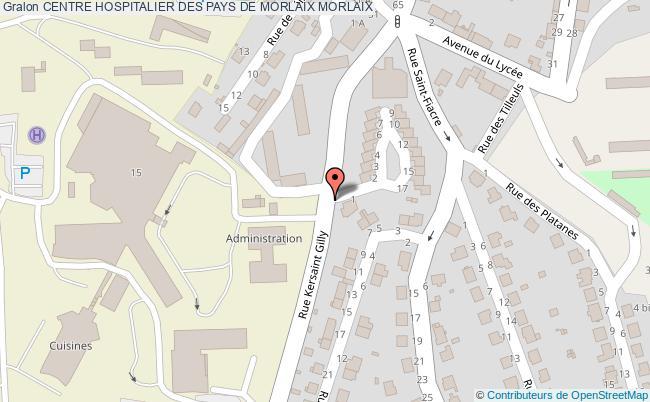 plan Centre Hospitalier Des Pays De Morlaix MORLAIX