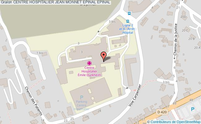 plan Centre Hospitalier Jean Monnet Epinal EPINAL