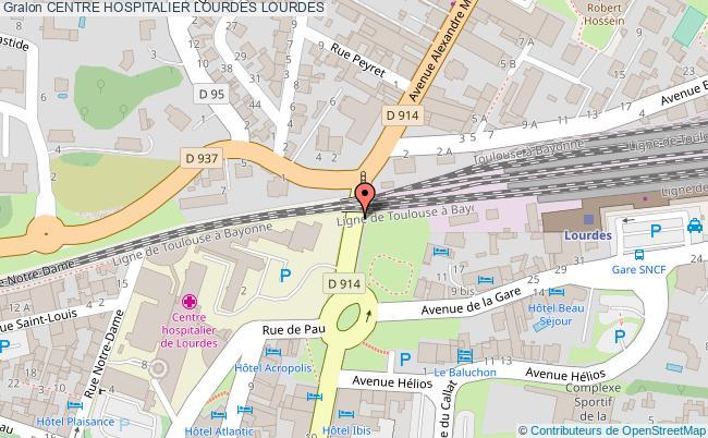 plan Centre Hospitalier Lourdes LOURDES