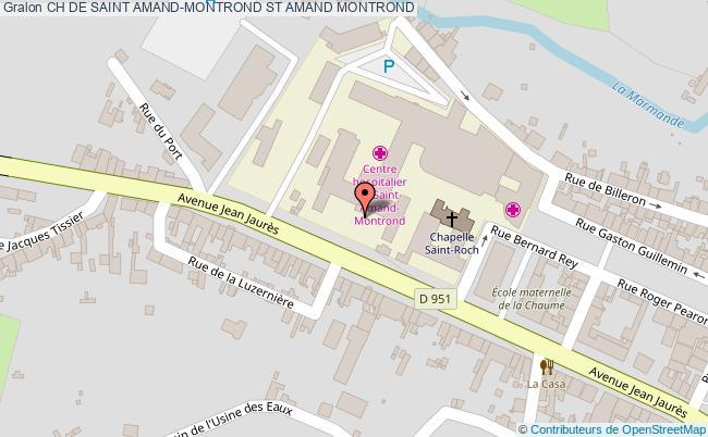 plan Ch De Saint Amand-montrond ST AMAND MONTROND