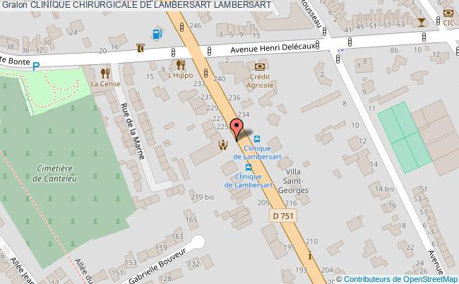 plan Clinique Chirurgicale De Lambersart LAMBERSART