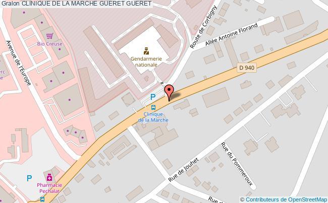 plan Clinique De La Marche Gueret GUERET