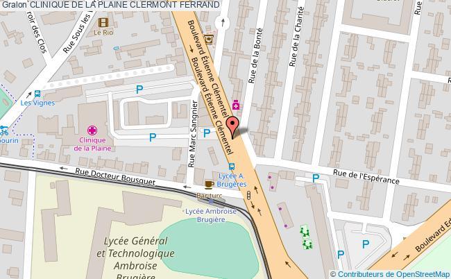 plan Clinique De La Plaine CLERMONT FERRAND