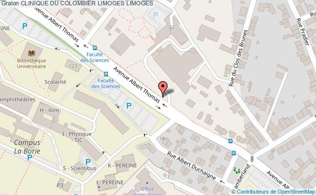 plan Clinique Du Colombier Limoges LIMOGES