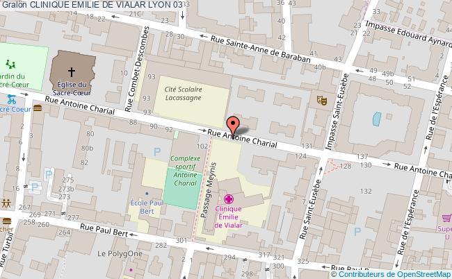 plan Clinique Emilie De Vialar LYON 03