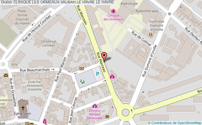 plan Clinique Les Ormeaux-vauban Le Havre LE HAVRE