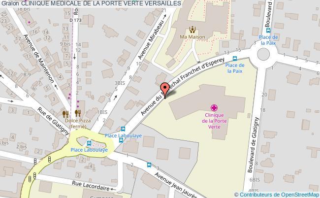 plan Clinique Medicale De La Porte Verte VERSAILLES