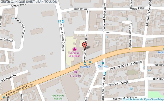 plan Clinique Saint Jean TOULON