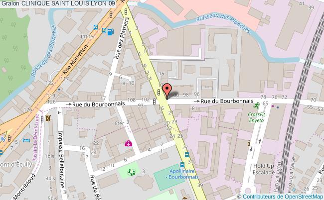 plan Clinique Saint Louis LYON 09