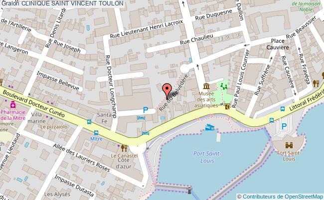 plan Clinique Saint Vincent TOULON
