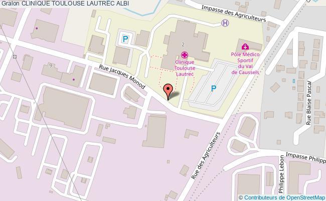 plan Clinique Toulouse Lautrec ALBI