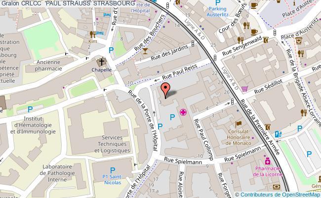 plan Crlcc  'paul Strauss' STRASBOURG