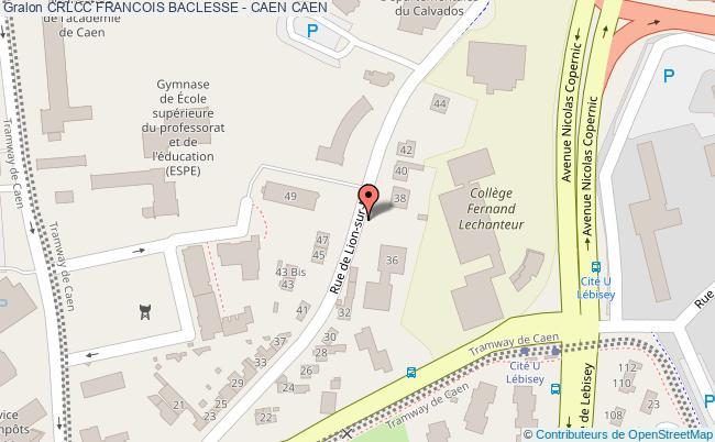 plan Crlcc Francois Baclesse - Caen CAEN