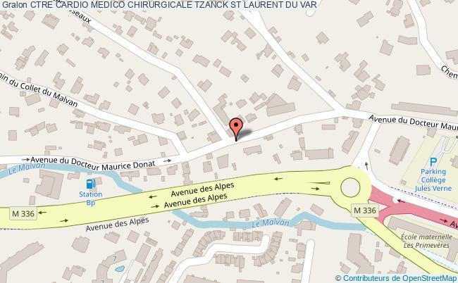 plan Ctre Cardio Medico Chirurgicale Tzanck ST LAURENT DU VAR