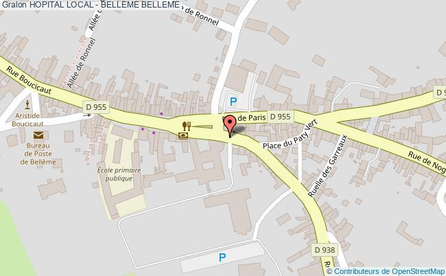 plan Hopital Local - Belleme BELLEME