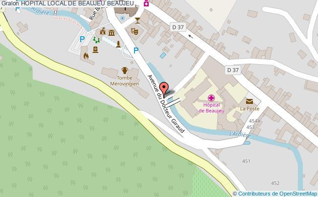 plan Hopital Local De Beaujeu BEAUJEU