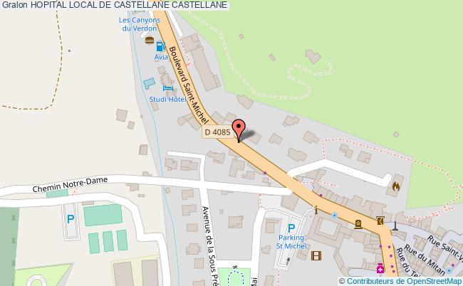 plan Hopital Local De Castellane CASTELLANE