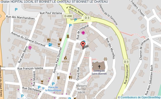 plan Hopital Local St Bonnet Le Chateau ST BONNET LE CHATEAU