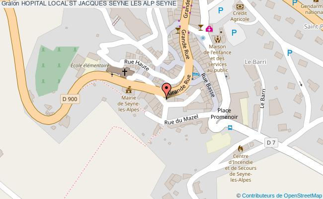 plan Hopital Local St Jacques Seyne Les Alp SEYNE