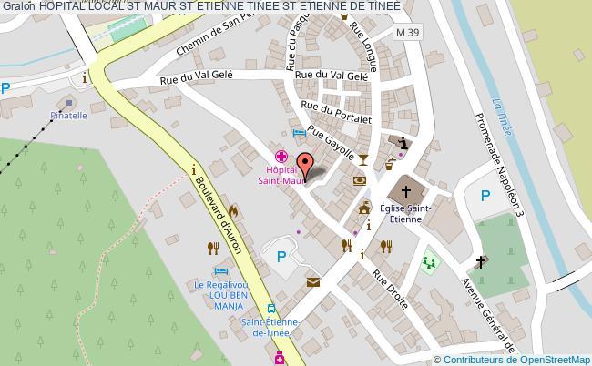 plan Hopital Local St Maur St Etienne Tinee ST ETIENNE DE TINEE