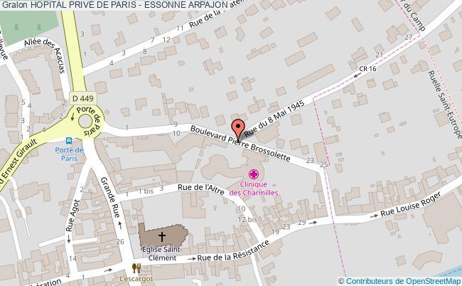 plan Hopital PrivÉ De Paris - Essonne ARPAJON