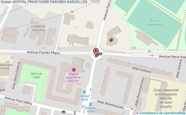plan Hopital Prive Nord Parisien SARCELLES