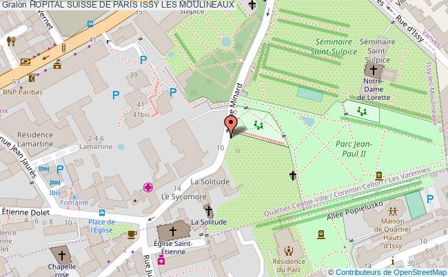 plan Hopital Suisse De Paris ISSY LES MOULINEAUX