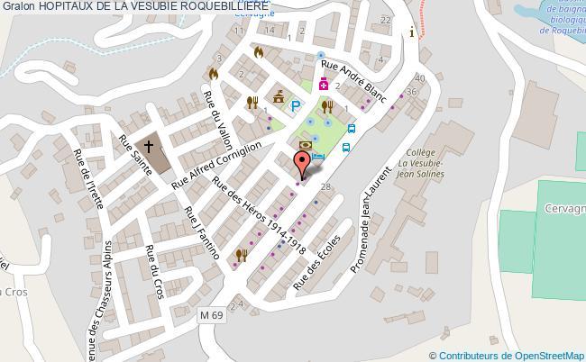 plan Hopitaux De La Vesubie ROQUEBILLIERE