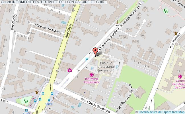 plan Infirmerie Protestante De Lyon CALUIRE ET CUIRE