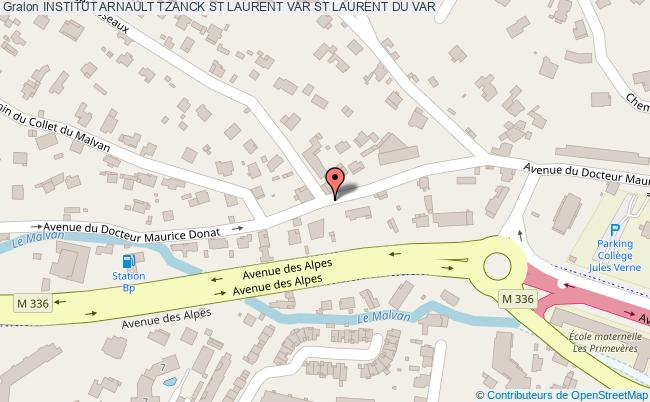 plan Institut Arnault Tzanck St Laurent Var ST LAURENT DU VAR