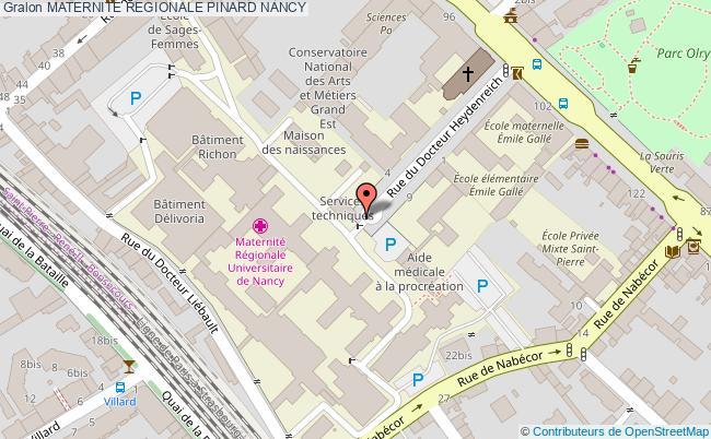 plan Maternite Regionale Pinard NANCY