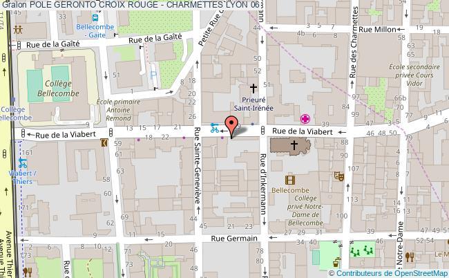 plan Pole Geronto Croix Rouge - Charmettes LYON 06