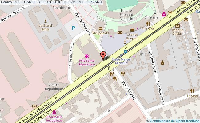 plan Pole Sante Republique CLERMONT FERRAND