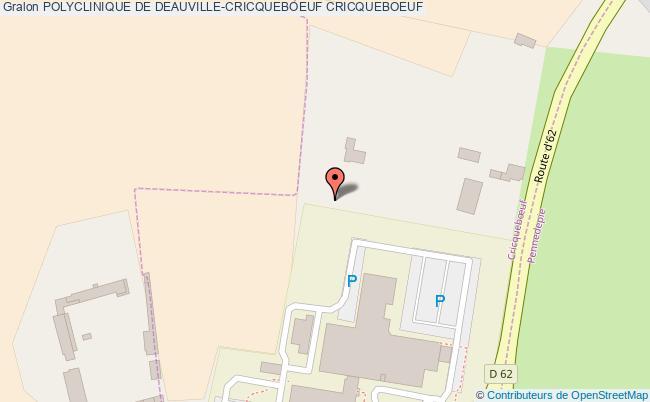 plan Polyclinique De Deauville-cricqueboeuf CRICQUEBOEUF