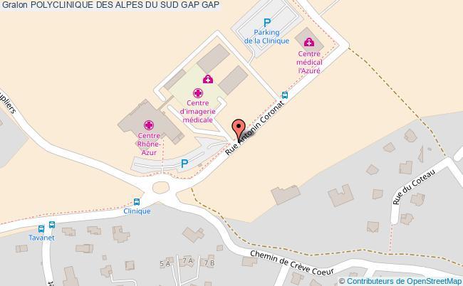 plan Polyclinique Des Alpes Du Sud Gap GAP
