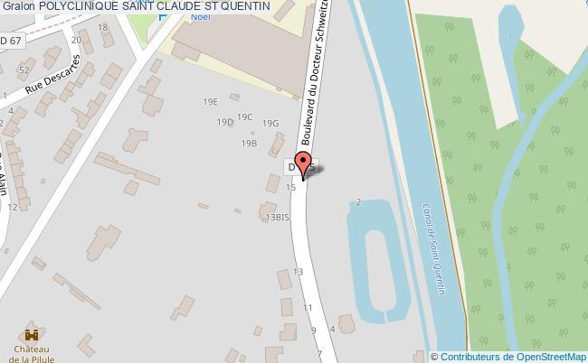plan Polyclinique Saint Claude ST QUENTIN