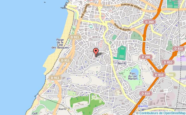 plan Bureau Information Jeunesse De Biarritz BIARRITZ